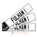 Fulham 1 Novelty Number Plate Bookmark