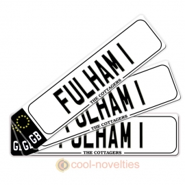 Fulham 1 Novelty Number Plate Bookmark