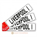 Liverpool 1 Novelty Number Plate Bookmark