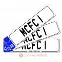 MCFC 1 (Manchester City) Novelty Number Plate Bookmark