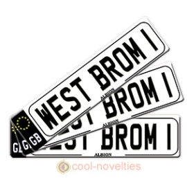 West Brom 1 Novelty Number Plate Bookmark
