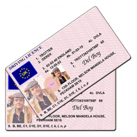 Del Boy Trotter Novelty Driving Licence - Only Fools and Horses