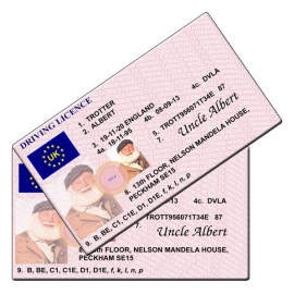 Uncle Albert Novelty Driving Licence - Only Fools and Horses