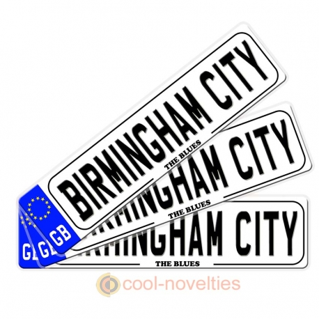 Birmingham City Novelty Number Plate Bookmark