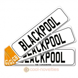 Blackpool Novelty Number Plate Bookmark