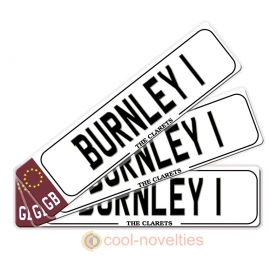 Burnley Novelty Number Plate Bookmark