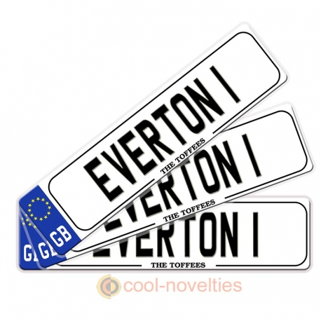 Everton 1 Novelty Number Plate Bookmark