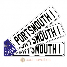 Portsmouth Novelty Number Plate Bookmark