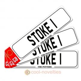 Stoke Novelty Number Plate Bookmark