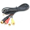 Sega Saturn Gold RCA Audio & Video Cable