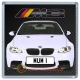 White BMW M3 Personalised Coaster / Beer Mat