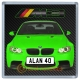 Green BMW M3 Personalised Coaster / Beer Mat