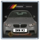 Grey BMW M3 Personalised Coaster / Beer Mat