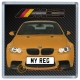 Orange BMW M3 Personalised Coaster / Beer Mat