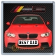 Red BMW M3 Personalised Coaster / Beer Mat