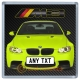 Yellow BMW M3 Personalised Coaster / Beer Mat