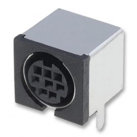 8 pin Mini-DIN Socket (Shielded) PCB Mount
