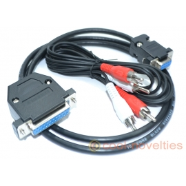 Commodore Amiga to Commodore 1080/1084-D RGB Monitor Cable (Female Socket)