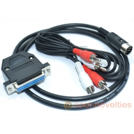 Commodore Amiga to Commodore 1084-P & 1084S-P RGB Monitor Cable (DIN Plug)