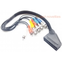 Sony PVM BNC Monitor to Scart Adapter Breakout Cable