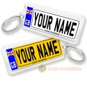 Personalised Number Plate Registration Keyring